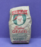 🎅 Vintage Bag of Brite Star Christmas Train Washed Gravel - Santa Picture, USA
