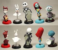 Hot 6pcs Nightmare Before Christmas Barrel Jack Bobble Head PVC Figure Model Toy