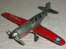 Vintage 1960s Hubley P-40 War hawk Ww2 Fighter airplane