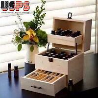 3 Tier Storage 59 Wooden Box Organizer Essential Oil Aromatherapy Container Case