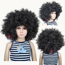 Jumbo Unisex Black Afro Children Halloween Wigs (fits from toddlers to teans)