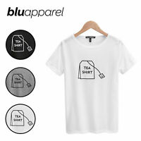 Ladies Graphic Slogan T-Shirt Casual Top 'Tea Shirt' UK Size 8 10 12 14 16