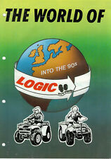 The World Of Logic ATV Equipment Into The 90s Brochure / Leaflet  0498F
