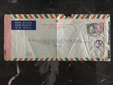 1943 Dublin Ireland Triple Censored Irish Red Cross Cover to Switzerland