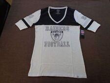 NFL '47 Brand Oakland Raiders Ladies Vintage Debut Slim Fit V-Neck Tee Medium