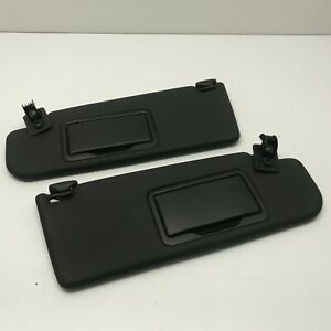 Vw Golf mk3 Black sun visors with mirrors and clips 1994 - 2002