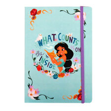 Disney Princess Jasmine A5 Notebook with Elasticated Closure, 160 Pages