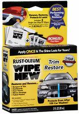 Wipe New TRIM RESTORER • Faded Plastic Bumpers Dashboard Panels Vinyl • CAR CARE