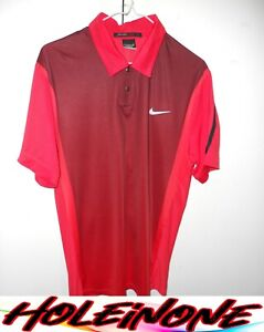 Tiger Woods Collection Men's Golf Shirt Short Sleeve Size S Red Polyester #H5