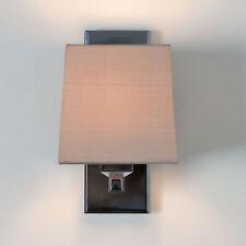 Astro Lambro 220 0664 Small Square Fabric Wall Light 60W E14 Polished Nickel