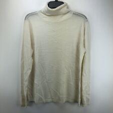 1901 Long Sleeve Merino Wool Turtleneck Sweater in Ivory XL