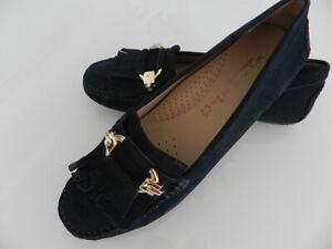 WIRTH Schuhe Mokassin Slipper für Damen Schwarz/gold Gr.38/ UK 5 NEU