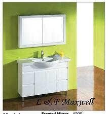 Semi-recessed Ceramic Basin Bathroom Vanity 1200