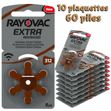 Piles auditives Rayovac 312 ( Plaquettes)