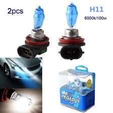 2pcs H11 100W White 6000K 12V Car SUV HOD Xenon Halogen Fog lamp Front HeadLight