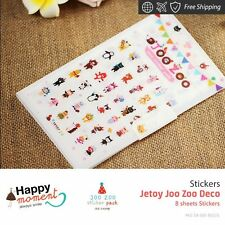 Jetoy Joo Zoo Deco Stickers Diary Scrapbook Deco Calendar Label Crafts 8 sheets