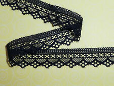 """5 metres -  Navy Blue Dainty Soft Stretch Lace Trim 1""""/2.5cm TOP SELLER Trimming"""