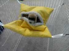 Ferret Hideaway Hammock - Yellow with Overlapping Circles