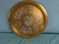 Tablett Servierhilfe Teller Messing Verziert Arabisch Kupfer Zinn Solide o6c7