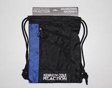 New Kenneth Cole Reaction Men's Black Blue Drawstring Backpack