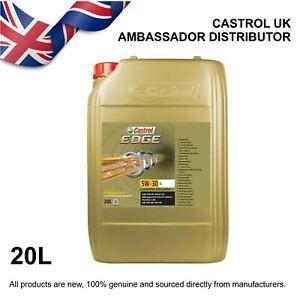 20L Castrol EDGE 5w-30 LL. Fully Synthetic Long Life Engine Oil. (rep SLX / FST)