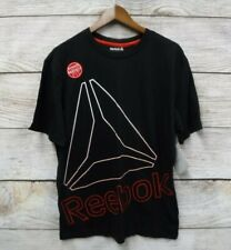 Reebok Performance Shirt Mens Size Medium Regular Fit Black Blow Up Shirt New