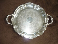 SILVERPLATE DOUBLE HANDLED SERVING PLATTER/ SHEETS R.S. & CO.