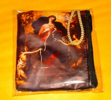 2 -MARY UNDOER OF KNOTS VINYL ROSARY CASES w/ ZIPPER New Catholic Pope Francis
