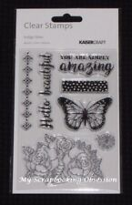 Kaisercraft Clear Stamp Set 'INDIGO SKIES' CS287 Butterflies/Floral KAISER 03/17