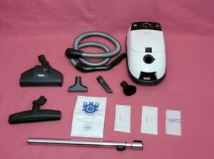 Miele white StarsCanister Vacuum Cleaner With Attachments