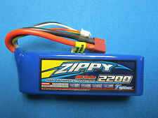 ZIPPY 2200mAh 3S 11.1V 25-35C LIPO BATTERY DEANS T HELI PLANE CAR QUAD FPV EDF