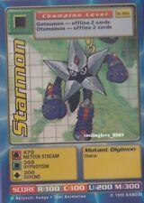 MINT DIGIMON DIGI-BATTLE HOLO FOIL INSERT STARTER CARD - St-26S STARMON + BONUS