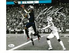 Josh Gordon New England Patriots Autographed Brady 500 td catch 8x10 Photo-JSA=*