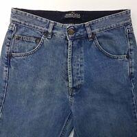 Avirex  Mens Jeans W30 L30 Blue Regular Fit Straight High Rise