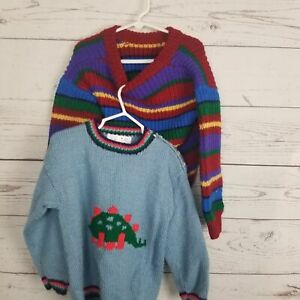 Vintage 1980's Laurie Crandall Childrens Small Sweater Lot
