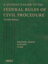 A Student's Guide to the Federal Rules of Civil Procedure (Student-ExLibrary