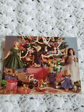 Vintage Adorable Dolls Toys Presents- Christmas Card Unused No Envelope