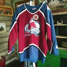 Vintage NEW NWTS Colorado Avalanche Hockey Jersey Starter Size Large L Men XMAS
