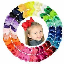 Big 30pcs 6in Grosgrain Ribbon Hair Bows Clips for Girl Toddler Teens