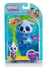 WowWee FINGERLINGS Glitter Panda ARCHIE Interactive Pet Toy (Blue)