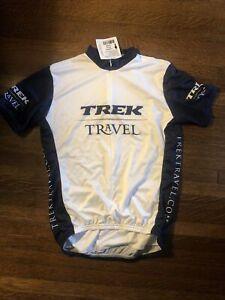 "New-Old-Stock ""TREK TRAVEL"" Short Sleeve Jersey •Size Large •Blue/White"