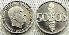 ESTADO ESPAÑOL 50 CENTIMOS 1866*19-75 PROOF UNC/FDC ESCASA