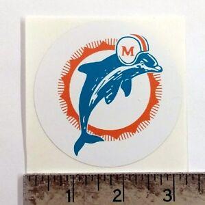 Vintage NFL Dolphins football logo sticker decal