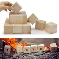 10-50mm Wooden Square Blocks Mini Cubes Embellishment for Woodwork Craft HOT
