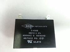 Mini Split Capacitor (1) - 5 mfd 5 uf - 450V - 4 Terminal - 50/60HZ