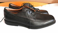 CLARKS (UK11G / EU46) BLACK LEATHER FLEX 24/7 LACE-UP SHOES - NEW