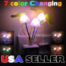 Cute Colorful Rainbow Color Mushroom LED Nightlight Energy Saving Sensor Lamp