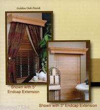 "CHAMBERLAIN 42"" Cornice Box Drape Drapery Window Treatment Golden Oak CB4142-116"
