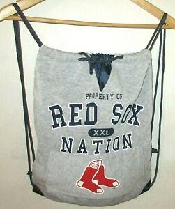 euc Boston Red Sox XXL Nation gray Sweatshirt Backpack Sports Bag MLB Baseball