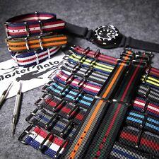 ZULU Durable Nylon NATO G10 Uhrenband For 18 20 22 24mm Watches Armbanduhr
